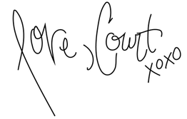 signature of Abstract Artist Courtney Pilgrim of My Friend Court